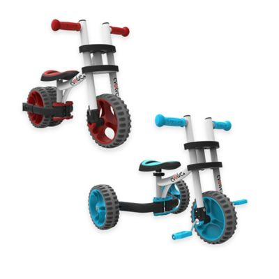 YBike Evolve 3-in-1 Trike in White/Blue