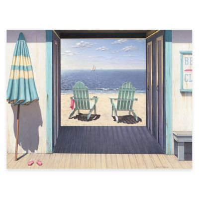 Beach Club 16-Inch x 20-Inch Gallery Canvas Wall Art