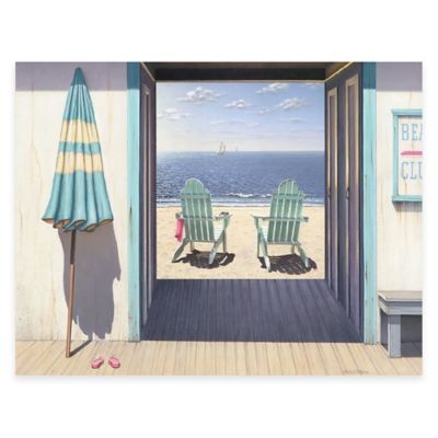 Beach Club 24-Inch x 36-Inch Gallery Canvas Wall Art
