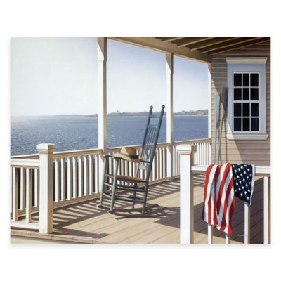 Courtside Market American Porch 24-Inch x 36-Inch Gallery Canvas Wall Art