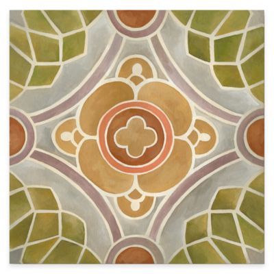 Tuscan Color Tile Block IV Gallery Canvas Wall Art