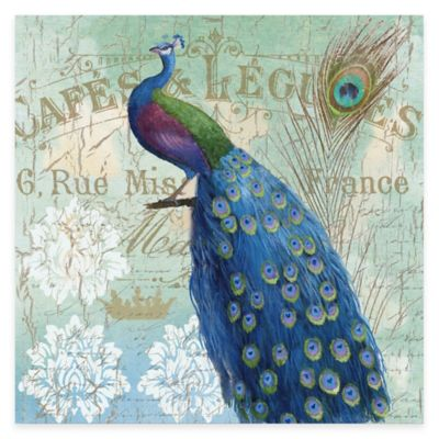 Blue Peacock II Gallery Canvas Wall Art