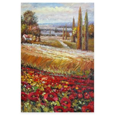Hand Painted Scenic Panel II Canvas Wall Art