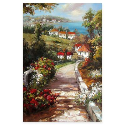Hand Painted Scenic Panel I Canvas Wall Art