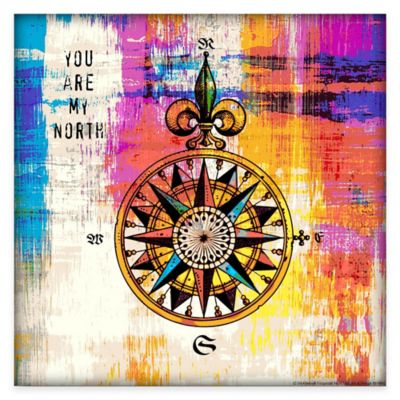 Courtside Market Colorful Compass Gallery Canvas Wall Art