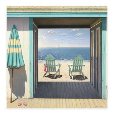 Beach 16-Inch x 16-Inch Club Gallery Canvas Wall Art