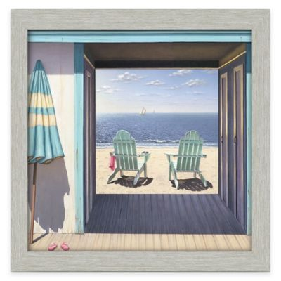 Beach Club Framed 30-Inch x 30-Inch Gallery Canvas Wall Art
