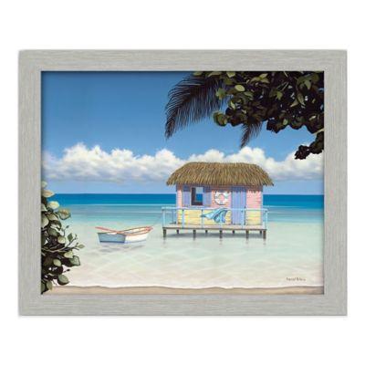 Island Hut Framed Gallery Canvas Wall Art