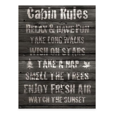 Cabin Rules Gallery Canvas Wall Art