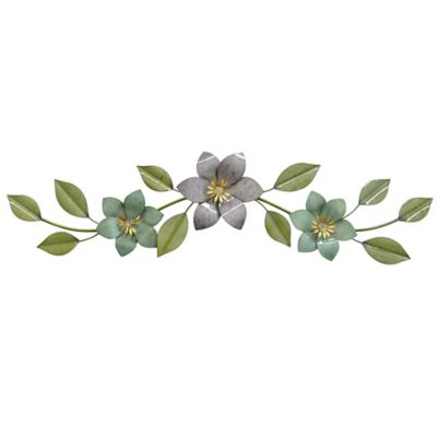 Floral Metal Wall Art Sculpture