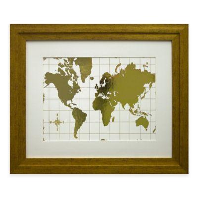 Gilded Map Framed Wall Art