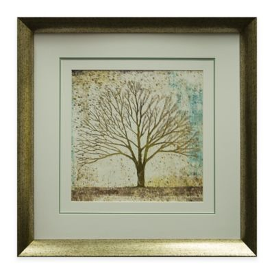 Solitary Tree Collage Framed Wall Art