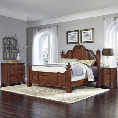 Home Styles Santiago 3-Piece King Bed, Night Stand, and Chest Set