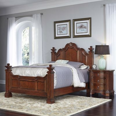 Home Styles Santiago 2-Piece Queen Bed and Nightstand Set