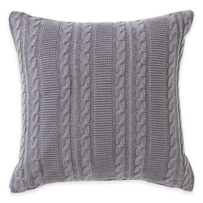 Gray Square Decorative Pillow