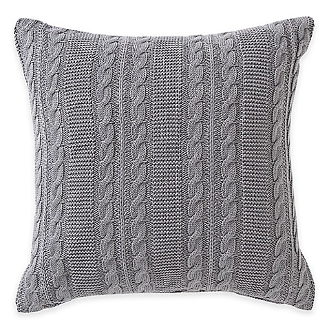 Grey Knit Throw Pillow : Buy Dublin Knit Square Throw Pillow in Gray from Bed Bath & Beyond