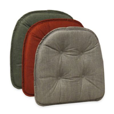 Klear Vu Tufted Cross-Hatch Gripper® Chair Pad in Red