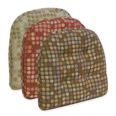 Klear Vu Tufted Dotty Gripper® Chair Pad in Natural