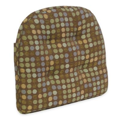 Klear Vu Delightfill® Gripper® Dotty Chair Pad in Brown