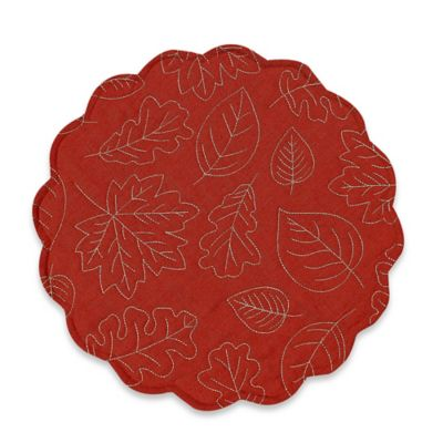 Sam Hedaya Leaf Meadow Placemat in Spice
