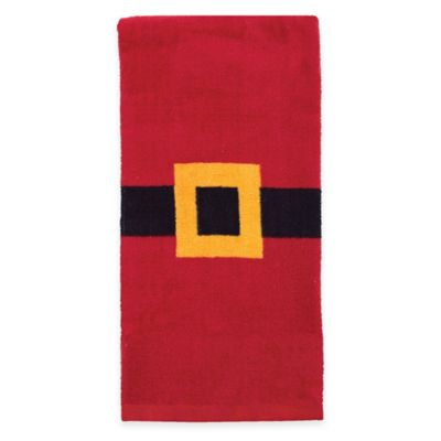 Santa Belt Kitchen Towel in Red