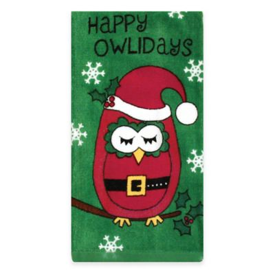 Owlidays Santa Fiber Reactive Kitchen Towel in Green