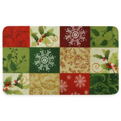 Bacova Traditional Holiday Blocks 18-Inch x 30-Inch Indoor Rug