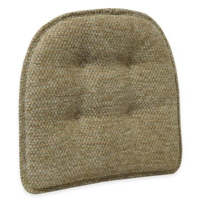 Klear Vu Tufted Teardrop Gripper® Chair Pad in Sand