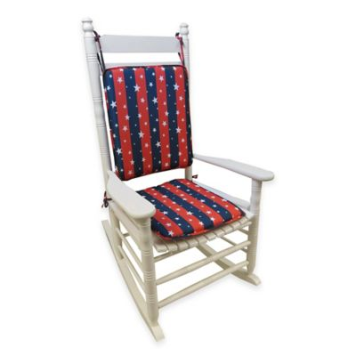 Klear Vu Americana 2-Piece Rocking Chair Pad Set in Red/White/Blue