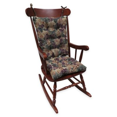 Klear Vu Cabernet Universal Extra-Large 2-Piece Rocking Chair Pad Set in Multi