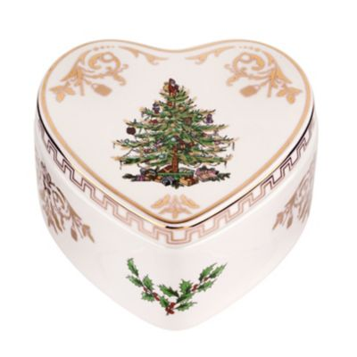 Spode® Christmas Tree Gold Heart Box