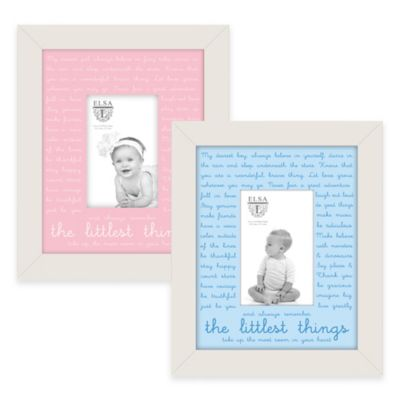 "Elsa L Baby Classics 4-Inch x 6-Inch ""The Littlest Things"" Picture Frame in Blue"