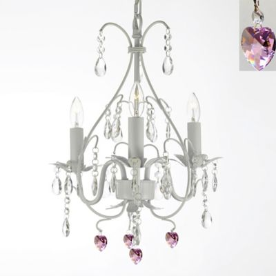 White Swag Chandelier