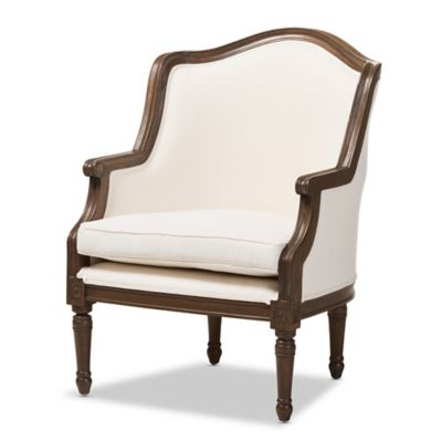 Baxton Studio Charlemagne French Accent Chair in White