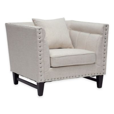 Baxton Studio Stapleton Linen Modern Accent Chair in Grey