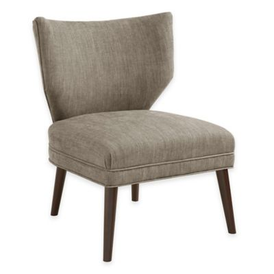 Madison Park Adley Armless Retro Wing Chair in Mushroom