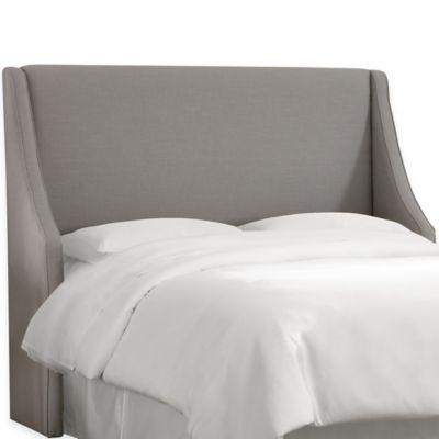 Skyline Furniture Monroe California King Headboard in Linen Grey