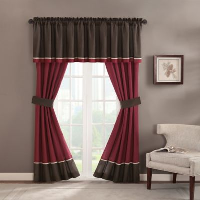 Chester Rod Pocket Window Valance in Brown