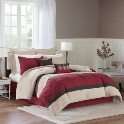 Chester 8-Piece King Comforter Set in Spice