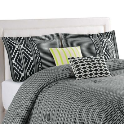 Blink Tallulah Full/Queen Reversible Comforter Set in Black