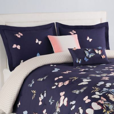 Blink Papillon 2-Piece Reversible Twin Comforter Set in Blue