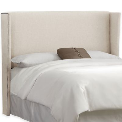 Skyline Furniture Warren Full Headboard in Linen Fuchsia