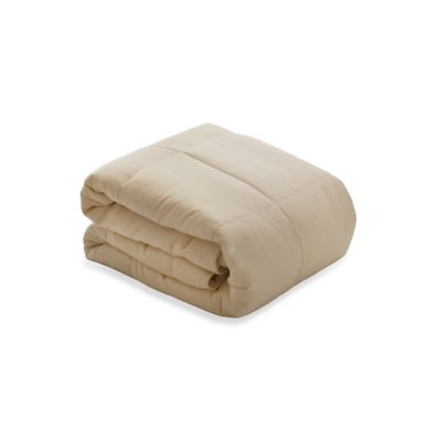 Natural Cotton King Comforter with Forsythia Fill