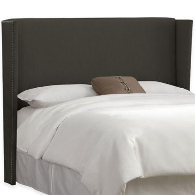 Skyline Furniture Warren California King Headboard in Linen Charcoal