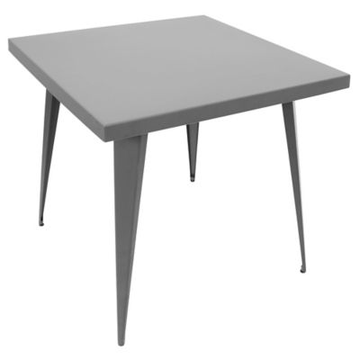 LumiSource Austin Square Dining Table in Grey