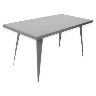 LumiSource Austin Rectangular Dining Table in Grey