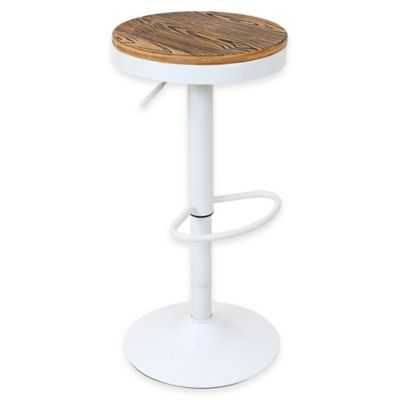 LumiSource Dakota Bar Stool in White
