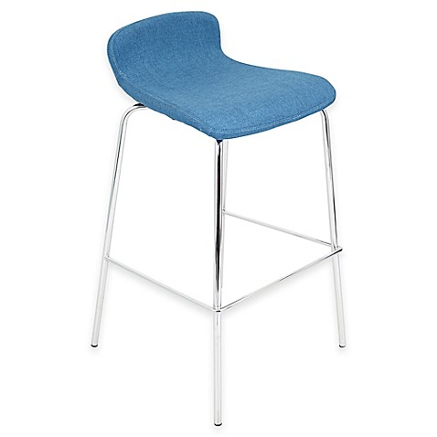 Buy Lumisource Fabric Stacker Barstools In Teal Set Of 3