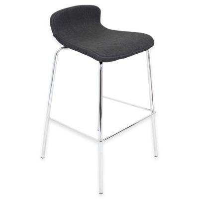 LumiSource Fabric Stacker Barstool in Charcoal