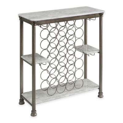 Home Styles Orleans Wine Rack in White/Grey